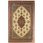 Six Meter Qom Carpet Handmade Flower Baskets And Bergamot Design