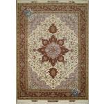 Rug Tabriz Carpet Handmade Heriz Design