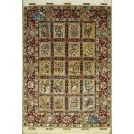 Rug Tabriz Carpet Handmade Tile Design