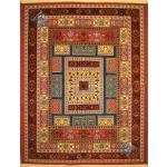 قالیچه دستباف گلیم فرش سیرجان اعلاباف رنگ گیاهی