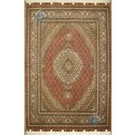 Rug Tabriz Carpet Handmade Mahi Design Silk & Softwool