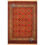 قالیچه دستباف ترکمن تمام پشم طرح یموتی