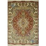 Rug Tabriz Carpet Handmade Khatibi Design Silk & Soft Wool