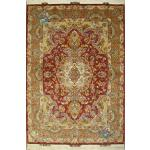 Rug Tabriz Handwoven Carpet Khatibi  Design