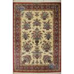 Rug Qom Carpet HandmadeFlower pot Design all Silk