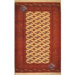 Rug Carpet Handwoven Tourkman Geometric Design