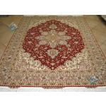 Rug Tabriz Carpet Handmade Heris Design