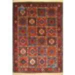 قالیچه دستبافت یلمه بروجن تمام پشم رنگ گیاهی طرح خشت حوضی