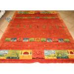 قالیچه دستباف گبه قشقایی تمام پشم دستریس طرح ذوالانواری
