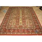 Rug Qom Carpet Handmade Geometric Design