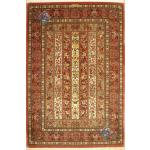 Rug Qom Carpet Handmade Geometric Design