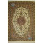 Rug Qom Carpet Handmade Bergamot Design