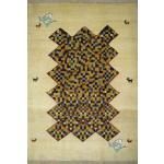 قالیچه دستباف گبه قشقایی تمام پشم دستریس طرح موزاییکی