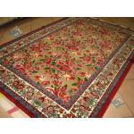 قالیچه دستباف سنندج طرح گل فرنگ چله و گل ابریشم اعلا باف