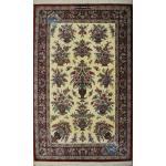 Rug Qom Carpet Handmade Flower Design All Silk