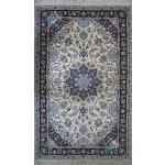 قالیچه دستباف نایین گل ابریشم نقشه لچک ترنج