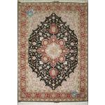 Pair Rug Tabriz Carpet Handmade Heris Design