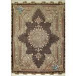 قالیچه دستباف طرح جدید ماهی موج مهر گل ابریشم پنجاه رج