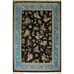 Rug Qom Carpet Handmade Hunting ground Design all Silk
