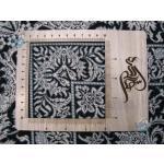 قالیچه دستباف تمام ابریشم قم طرح جدید ورساچه تولیدی زرین
