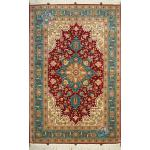 Zar-o-nim Tabriz Carpet Handmade Heriz  Design Silk & Softwool