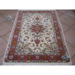 Zar-o-nim Tabriz Carpet Handmade Beheshti Design