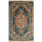 Zar-o-nim Tabriz Carpet Handmade Rezai Design
