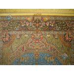 ذرع و نیم دستباف تمام ابریشم قم نقشه جمشیدی تولیدی اکبری
