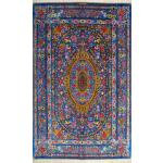 Zar-o-nim Qom Handwoven Flower Design All Silk