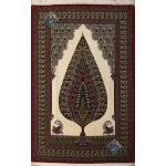 Pair Zar-o-nim Qom Carpet Handmade Cedar Design