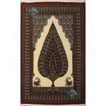 Zar-o-nim Qom Carpet Handmade Cedar Design