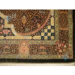 ذرع و نیم دستباف تمام ابریشم قم طرح جمشیدی تولیدی طلا کوب