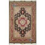 Zar-o-Nim Tabriz Carpet Handmade New Heris Design