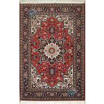 Zar-o-Nim Tabriz Carpet Handmade New Heris Design