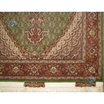 Pair Zar-o-nim Tabriz Carpet Handmade Mahi Design