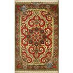Mat Qom Handmade Carpet All Silk Medallion Design