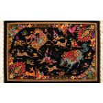 Tableau Carpet Handwoven Qom Hunting Ground Design