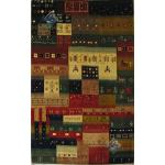 پرده ای دستباف گبه قشقایی طرح خشت در هم ذوالانواری رنگ گیاهی