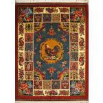 Rug Bakhtiari Carpet Handmade Cock Badge Design