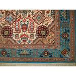 Zar-o-charak Carpet Handwoven Qom Geometric Design