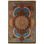 Zar-o-Charak Qom Handmade Carpet All Silk