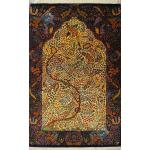 Mat Qom Carpet Handmade life Tree Design All Silk
