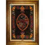 Tableau Carpet Handwoven Qom Bergamot Design all Silk