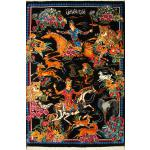 Tableau Carpet Handwoven Qom Hunting ground Design all Silk