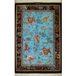 Zar-o-Charak Qom Carpet Handmade Hunting ground Design