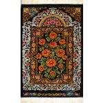 Tableau Carpet Handwoven Qom Chrysanthemum Design all Silk