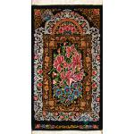 Tableau Carpet Handwoven Qom Iris flower Design all Silk