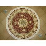 Circle Carpet Tabriz Oliya Design Silk & Softwool