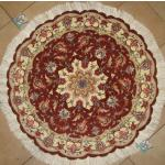 Circle Tabriz Handmade Carpet Silk & Softwool