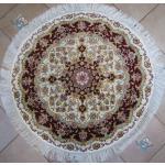 دایره دستباف تبریز قطر یک متر طرح علیا گل ابریشم
